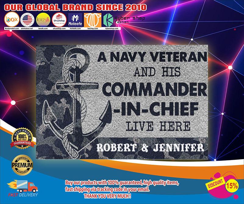 A navy veteran and his commander in chief live here doormat