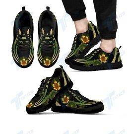 Badass version  mandala cannabis sunflower all over printed sneakers
