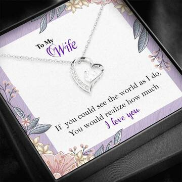 Badass version  to my wife i love you your husband gift for valentines hearts necklace