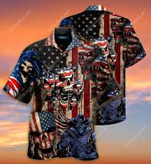 Badass version united state veterans on the ocean all over printed hawaiian shirt