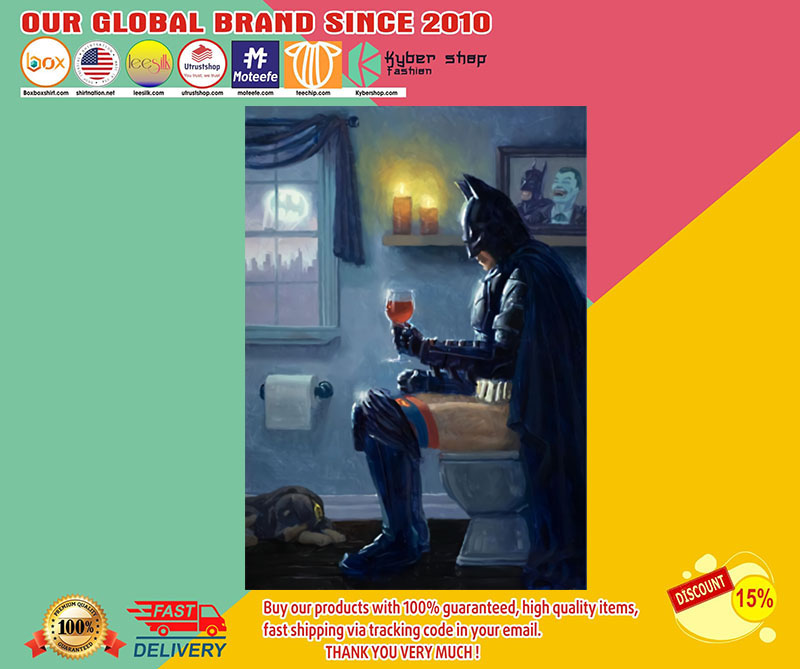 Batman Bathroom Wine poster