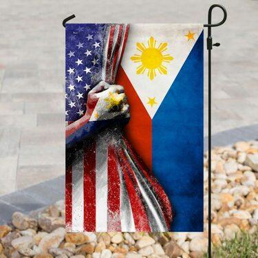 Badass version american flag filipino flag all over print flag