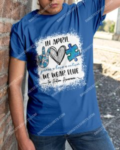 Badass version in april we wear blue for autism awareness shirt