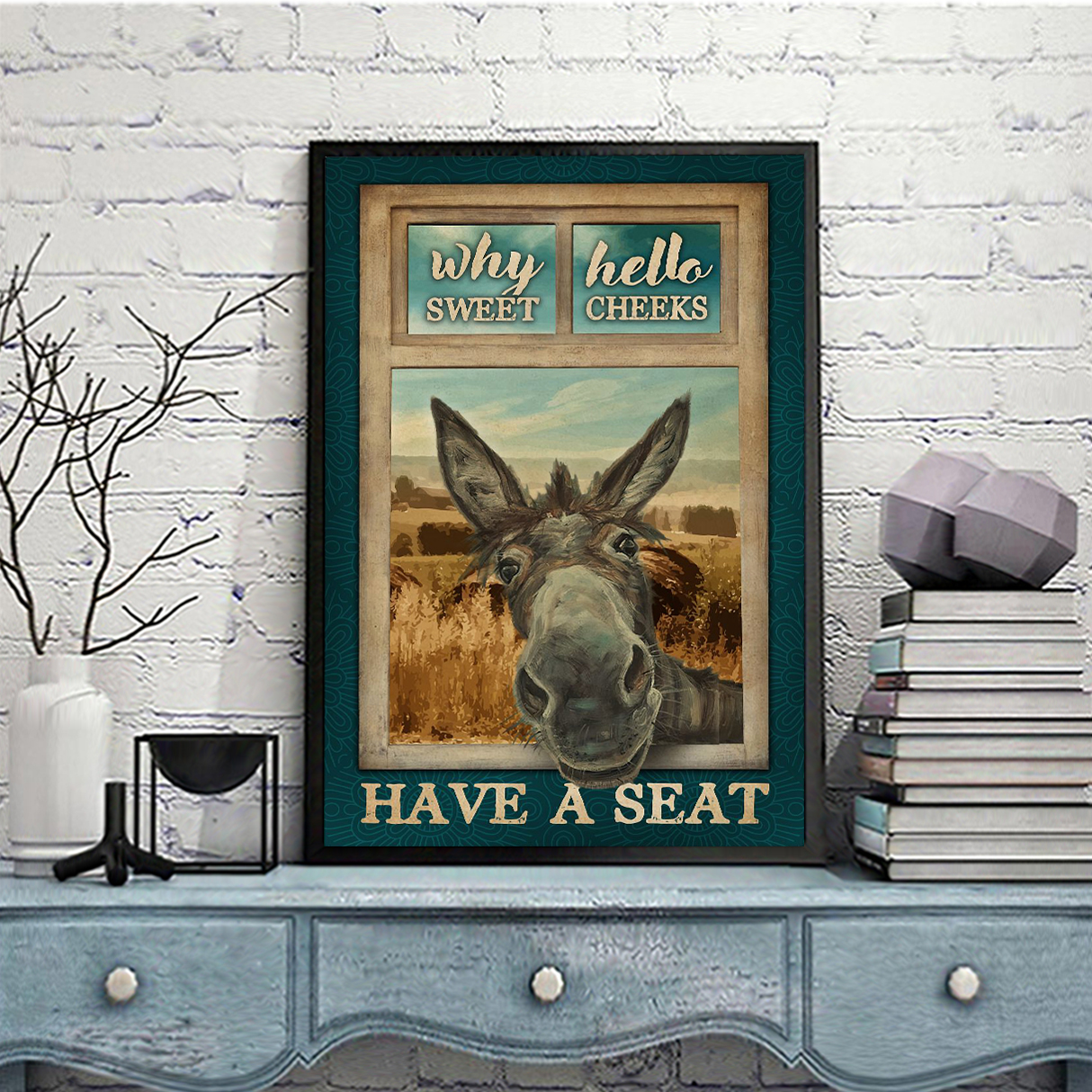 Poster Donkey Why Hello Sweet Cheeks