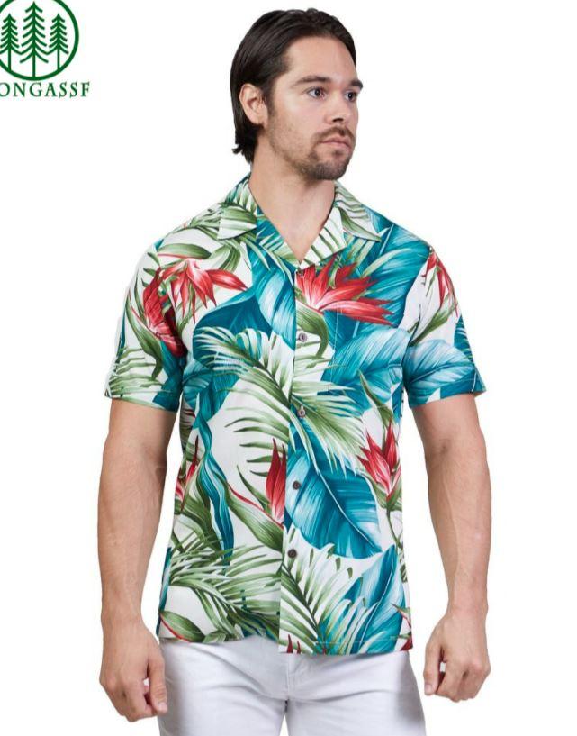 Hawaiian Leaf Bird of Paradise Shirt