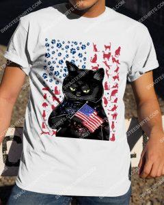 [Badass version mariashirts] black cat happy independence day shirt