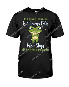 [Badass version mariashirts] my spirit animal is a grumpy frog who slaps annoying people shirt
