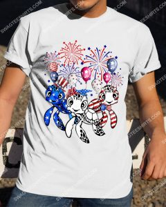 [Badass version mariashirts] three turtle happy independence day shirt
