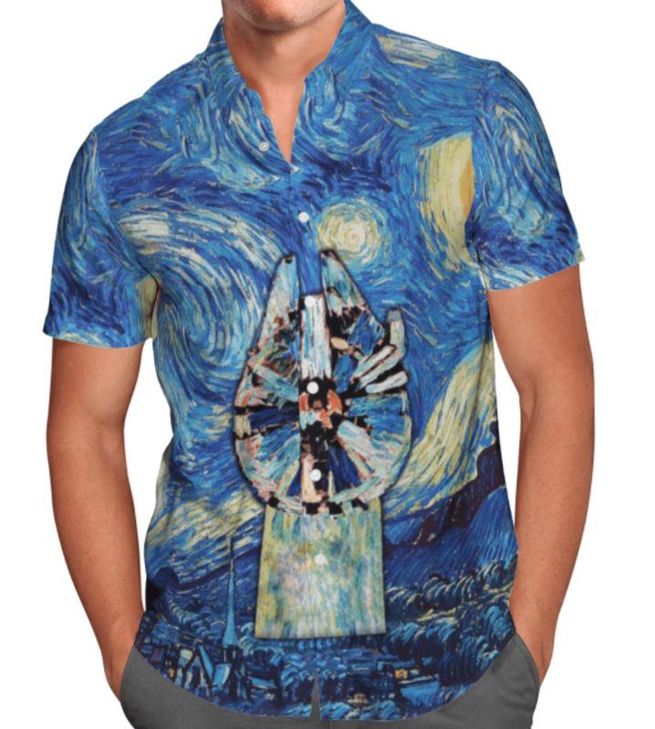 Star wars Hawaiian Shirt Oil paint
