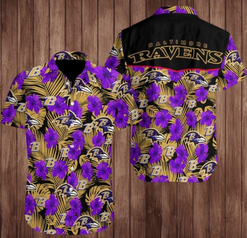 NFL Baltimore Ravens Hawaiian Shirt Football Team For Fans