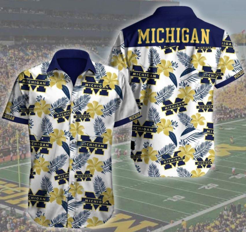 Michigan Wolverines Football Logo Hawaii Hawaii Shirt