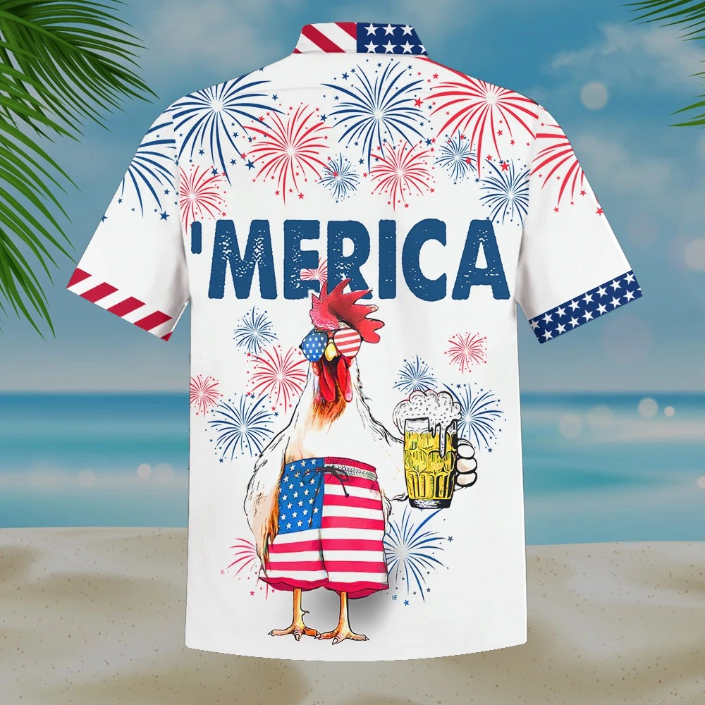 Chicken Beer Independence Day 4th Of July Shirt