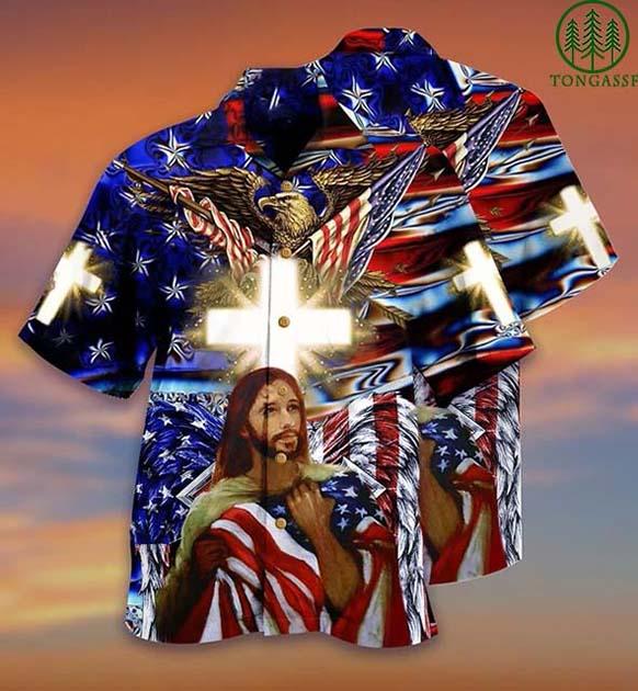 [Tongassf] Hawaiian Shirt America and God bless