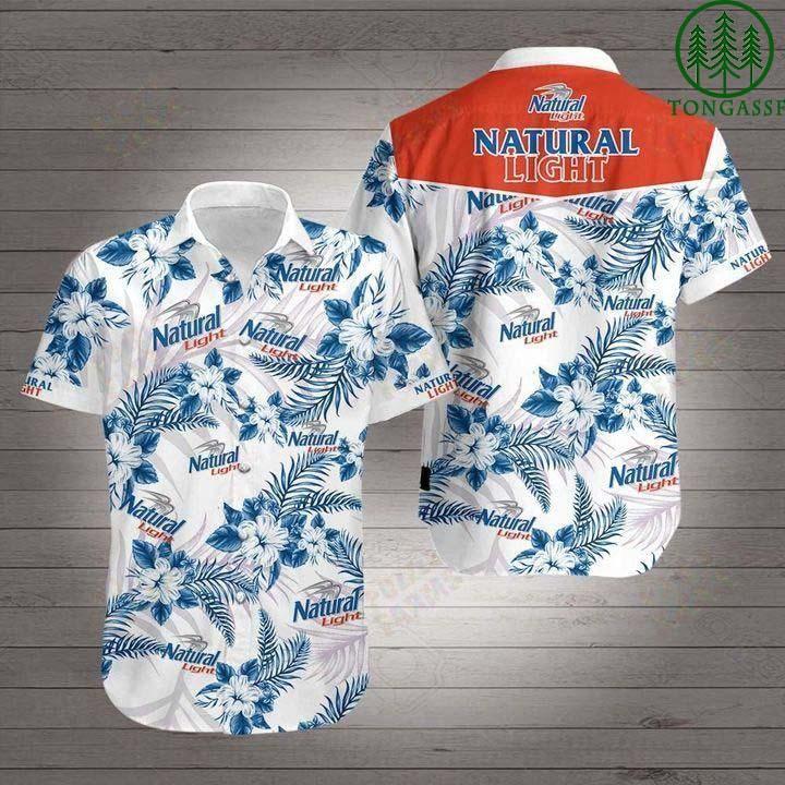 [Tongassf] Hawaiian Shirt Summer Shirt Natural light beer floral