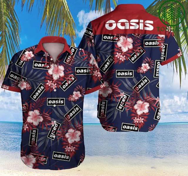[Tongassf] Hawaiian Shirt Summer Shirt Oasis Floral