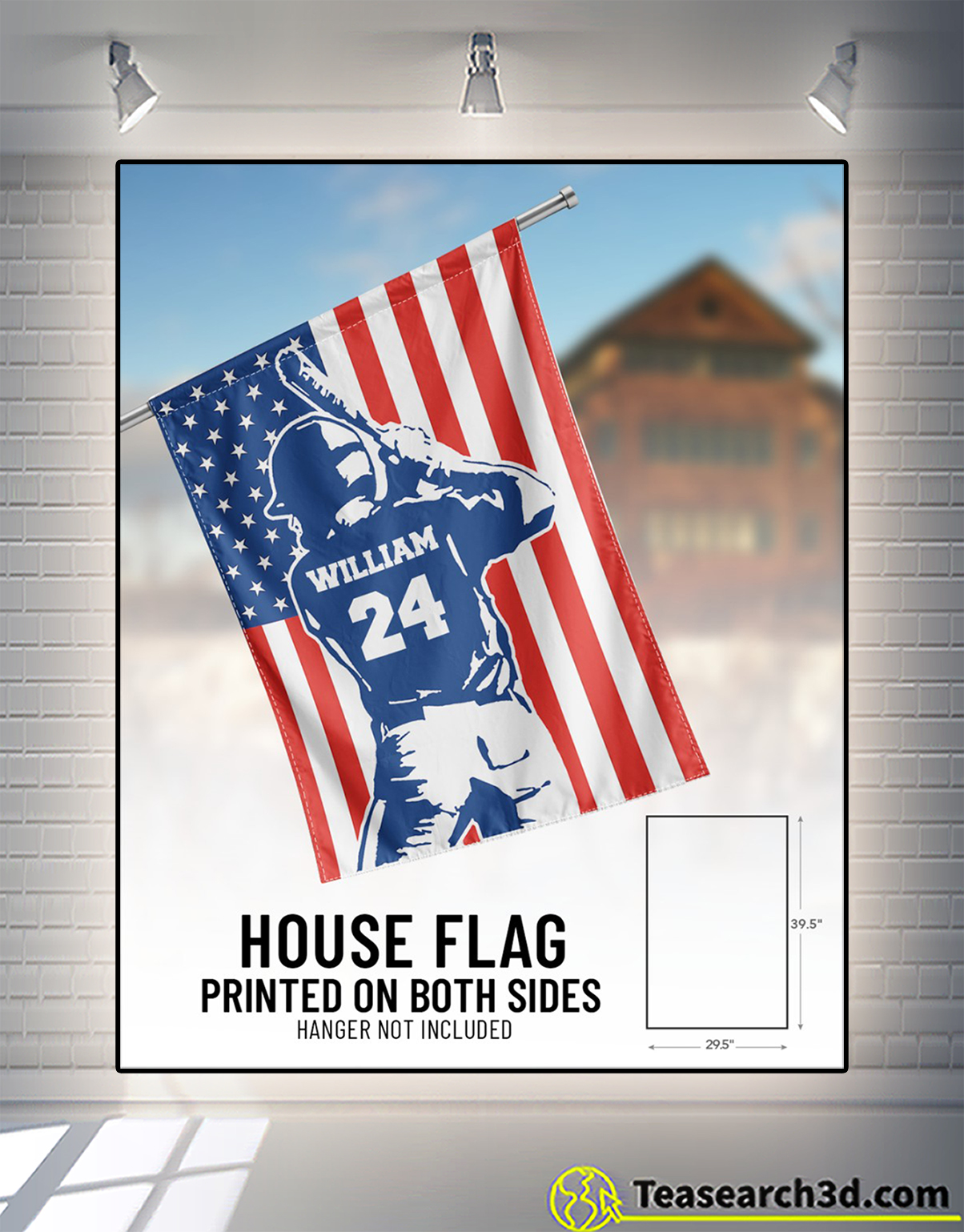 Personalized customize baseball usa flag