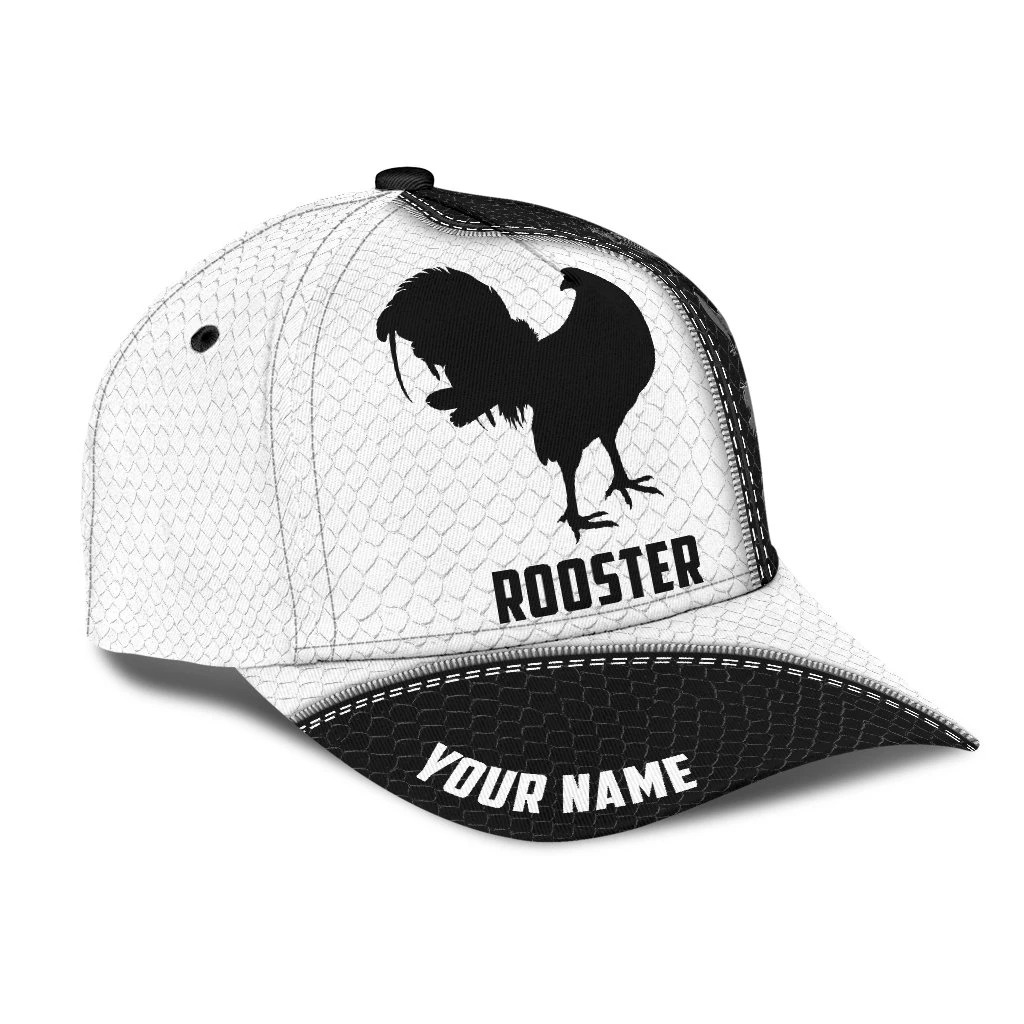 Personalized rooster 3D Print classic cap