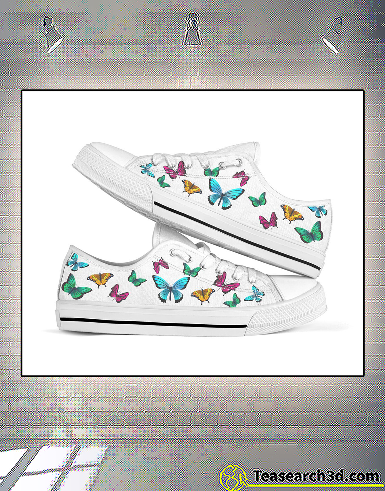 Seamless butterflies low top shoe
