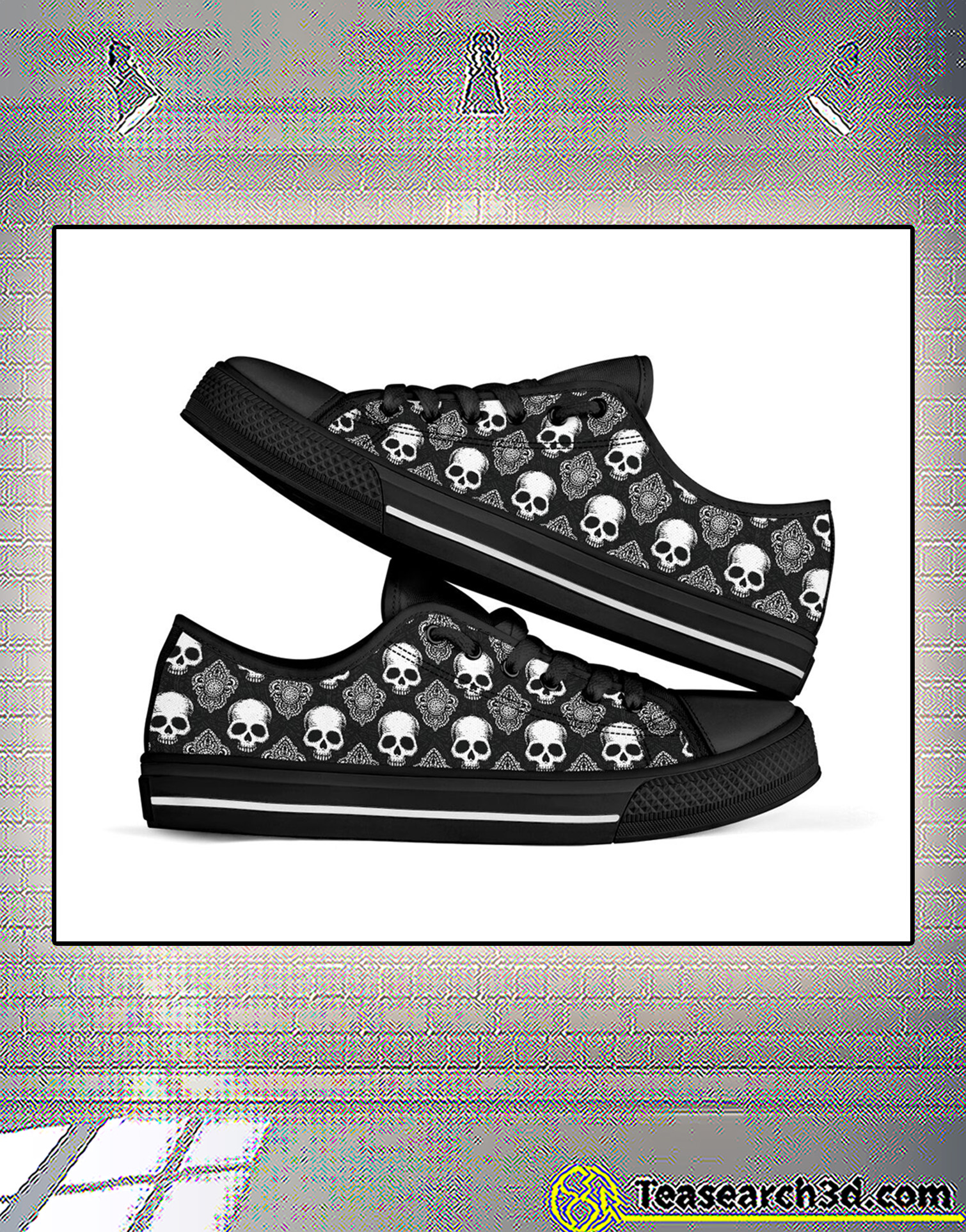 Skull low top shoe