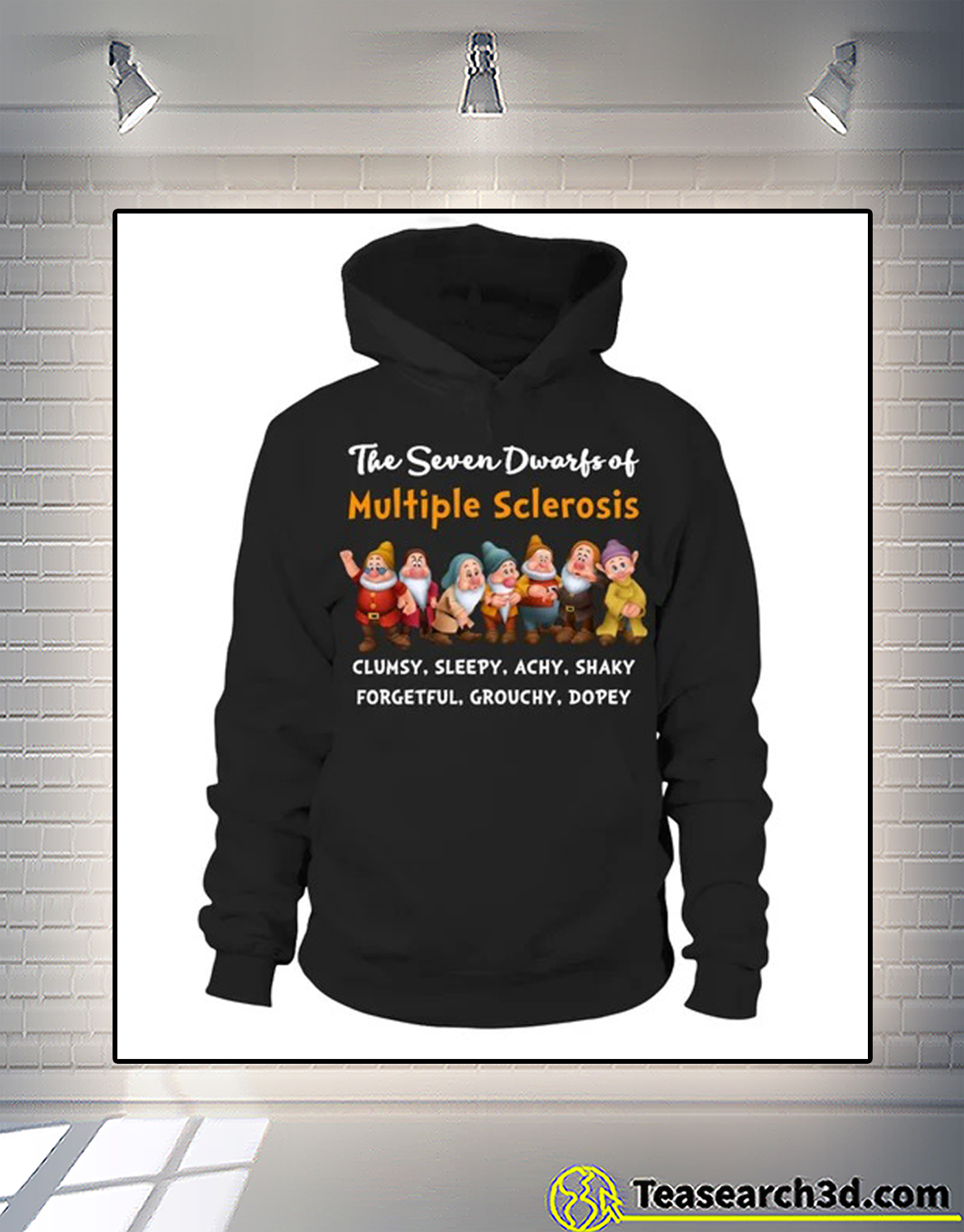 The seven dwarfs of multiple sclerosis clumsy sleepy t-shirt