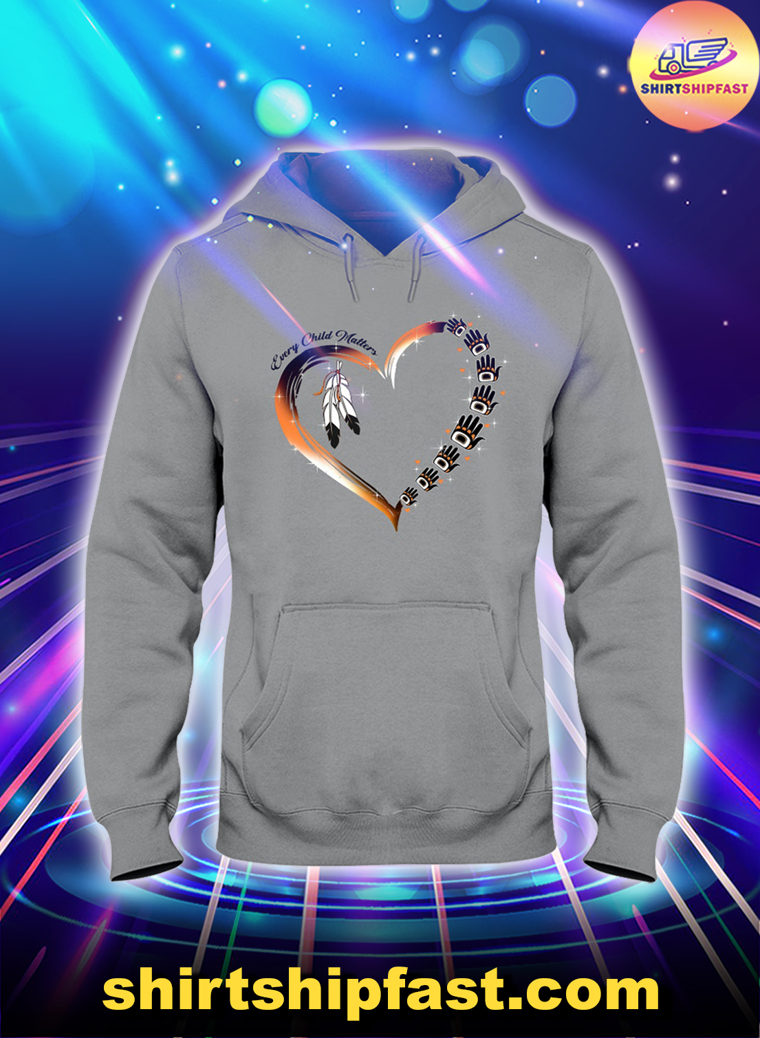 Native American heart Every child matters shirt, tank top and v-neck
