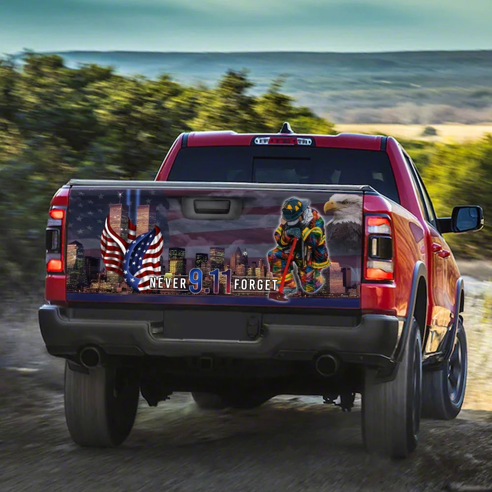 Never Forget September 11th American Truck Tailgate Decal