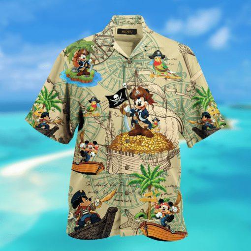 Pirate Mickey Short Sleeve Hawaiian Shirt