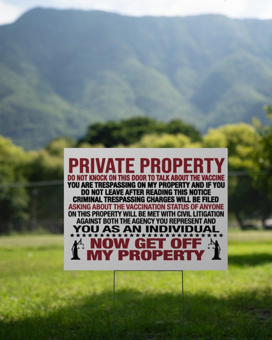 Private property vaccine door knocker yard signs