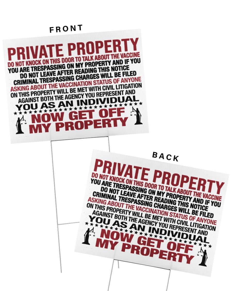 Private property vaccine door knocker yard signs 3