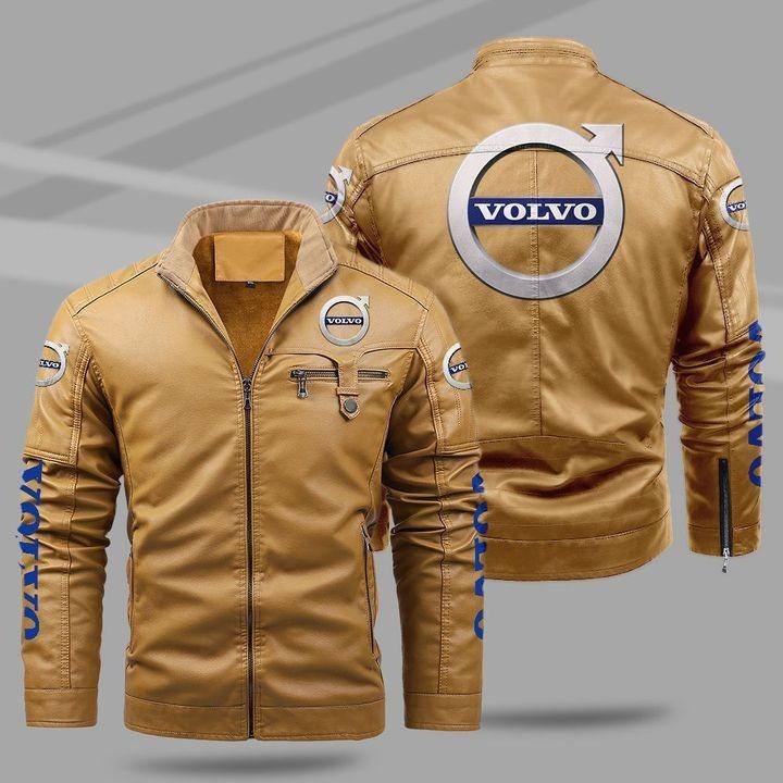 Volvo Fleece Leather Jacket 1