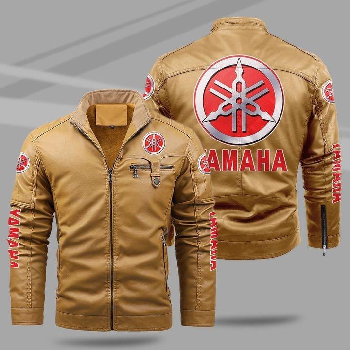 Yamaha Fleece Leather Jacket 1